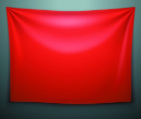 Textile on the wall banner vector 03
