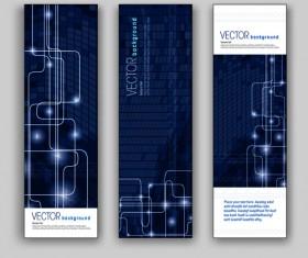 Blue Style Vertical banner vector 05