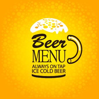 Creative Beer Poster Design Vector 01