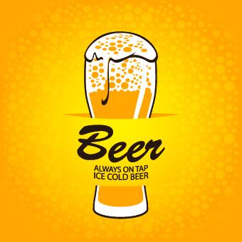 Creative Beer Poster Design Vector 03
