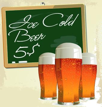 Creative Beer Poster Design Vector 04