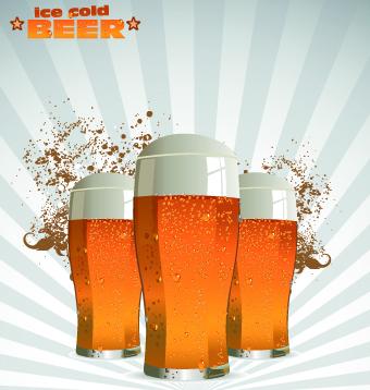 Creative Beer Poster Design Vector 08