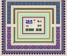 Vintage Border pattern design vector 03