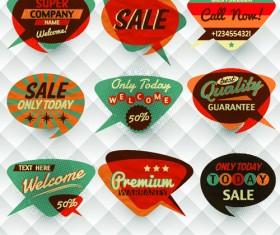 Vintage Bubbles labels vector 03