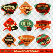 Link toVintage bubbles labels vector 05
