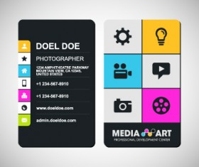 Delicate Business cards design elements 04