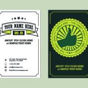 Delicate business cards design elements 05