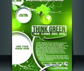 Business flyer and brochure cover design vector 37