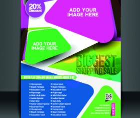 Business flyer and brochure cover design vector 38
