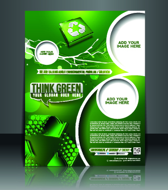 Business flyer and brochure cover design vector 40