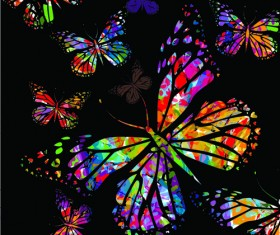 Colorful Butterflies design vector 02
