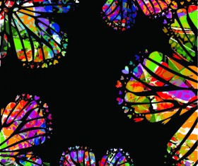 Colorful Butterflies design vector 03
