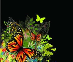 Colorful Butterflies design vector 04
