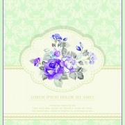 Link toVintage flower congratulation cards vector 01
