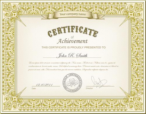 best certificates design vector set 01 free download