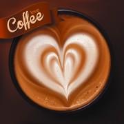 Link toRomantic coffee labels design vector 01
