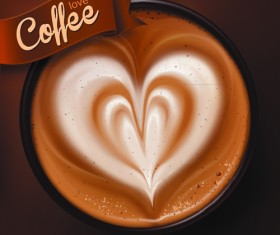 Romantic Coffee Labels design vector 01