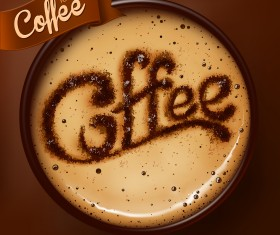 Romantic Coffee Labels design vector 03