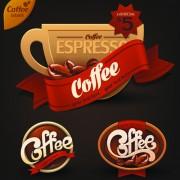 Link toRomantic coffee labels design vector 04