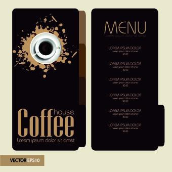 Retro style Coffee menu design 03