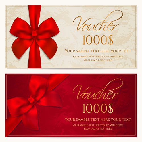 Coupon Design Elements Vector 02 Free Download