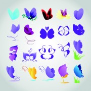 Link toDifferent butterfly logos vector
