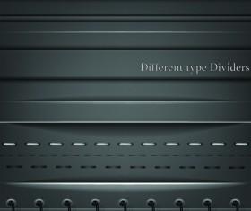 Different Type Dividers design vector 01