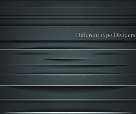 Different Type Dividers design vector 02