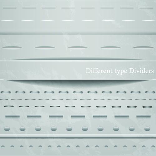 Different Type Dividers design vector 03