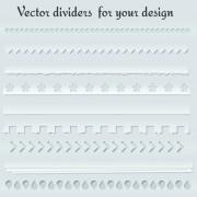 Link toDifferent type dividers design vector 04