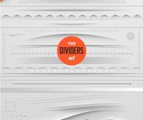 Different Type Dividers design vector 05