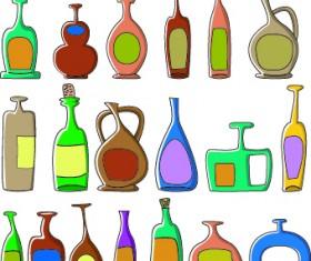 Drinks food vector set 09