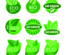 ECO labels and logos vector set 02