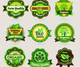 ECO labels and logos vector set 03