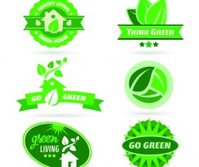 ECO labels and logos vector set 04