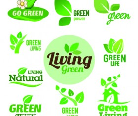 ECO labels and logos vector set 05