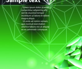 Green Diamond Backgrounds vector 01