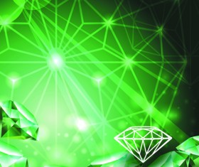 Green Diamond Backgrounds vector 04