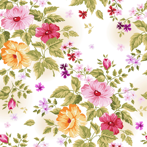 Beautiful Floral Patterns Vector Ser 40 Free Download Extraordinary Floral Patterns