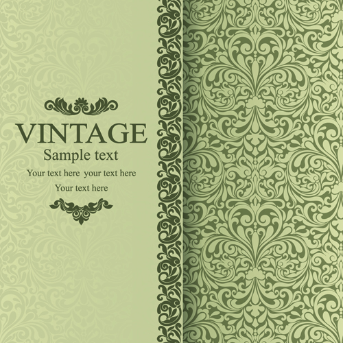 Floral Vintage backgrounds vector 01 - Vector Background free download
