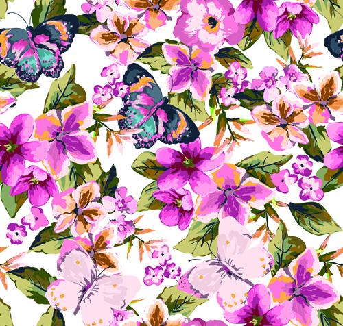 Watercolor Flowers vector 03