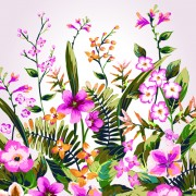 Link toWatercolor flowers vector 04