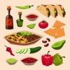 Various Food elements vector set 03