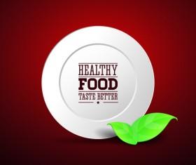 Creative Healthy Food Labels vector 01