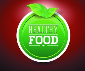 Creative Healthy Food Labels vector 02