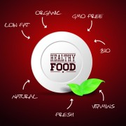 Link toCreative healthy food labels vector 03