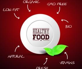 Creative Healthy Food Labels vector 03