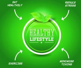 Creative Healthy Food Labels vector 04