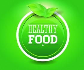 Creative Healthy Food Labels vector 05