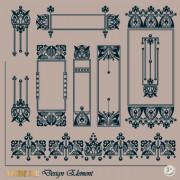 Link toRetro frame design vector 03